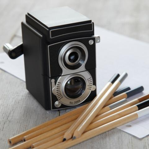 Camera pencil sharpener — Cox & Cox, the difference between house and home.