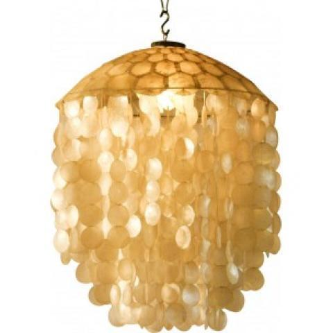 Hanging lamp made of Shells - 1940s - Design Market