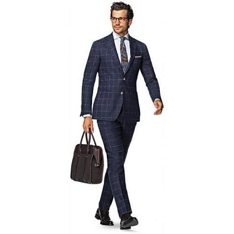 Costume Bleu Carreau Havana P4720 | Suitsupply Online Store