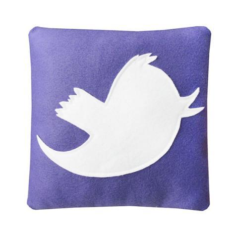 Anony Tweet Pillow Purple by Craftsquatch on Etsy