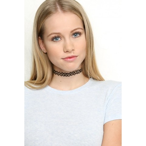 Brandy ♥ Melville |  Black Choker Necklace - Accessories