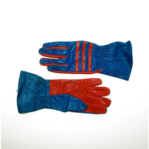 Superhero Gloves Mens Medium Red and Blue