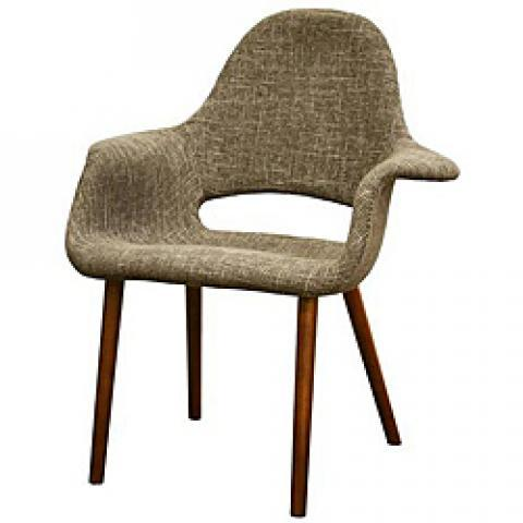 Forza Taupe Twill Mid-Century Style Accent Chairs (Set of 2) | Overstock.com