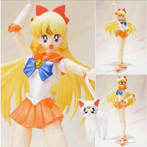 High Quality!!! BANDAI SHF sailor moon Sailor Venus sexy Leafa japanese anime 15cm pvc marvel action figures doll model-in Action & Toy Figures from Toys & Hobbies on Aliexpress.com | Alibaba Group