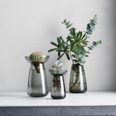 Kinto Aqua Culture Vase, Grey | Home Colours
