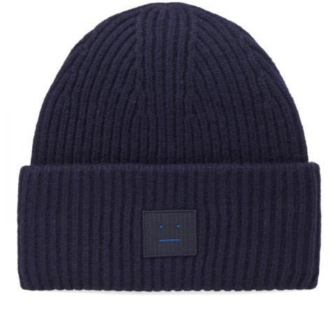 Acne Studios Pansy L Face Beanie (Navy) | END.