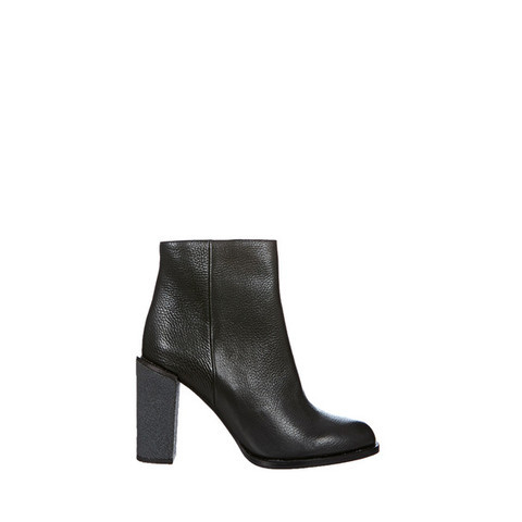 Bottines en cuir Caprifoglio Noir See by Chloé sur MonShowroom.com