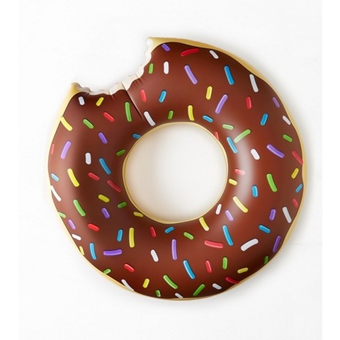 Bigmouth Giant Donut Pool Float, Chocolate | American Eagle Outfitters