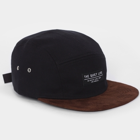 The Quiet Life Cord Combo 5 Panel Cap, Black