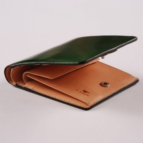 Il Bussetto Bi-fold Wallet/Coin Pocket - Bright Green