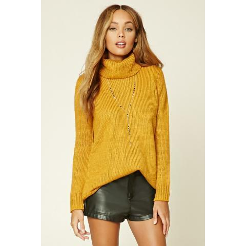 Ribbed Knit Turtleneck Sweater | Forever 21 - 2000234330