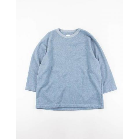 Blue Heathered Jersey 3/4 Raglan Sleeve Oversize Sweatshirt by ts(s) – The Bureau Belfast
