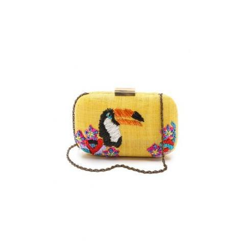 Serpui Marie Toucan Embroidered Fauna Clutch | SHOPBOP