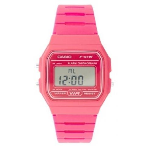 Rose | Casio - F-91WC-4AEF - Montre digitale - Rose chez ASOS