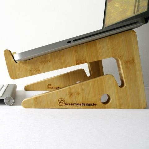 ecodesign laptopstand unique puzzle shape made par greentunadesign