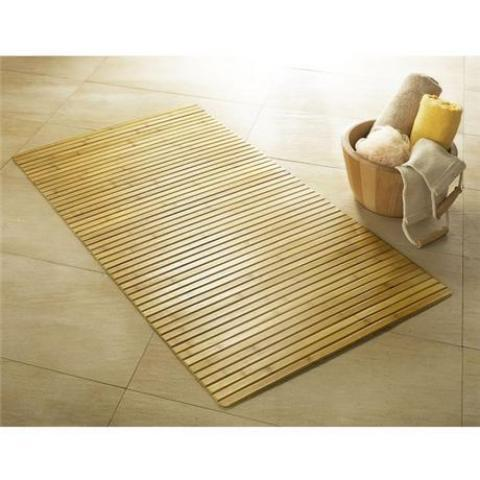 Kleine Wolke Bamboo Wood Bath Mat | Victorian Plumbing.co.uk