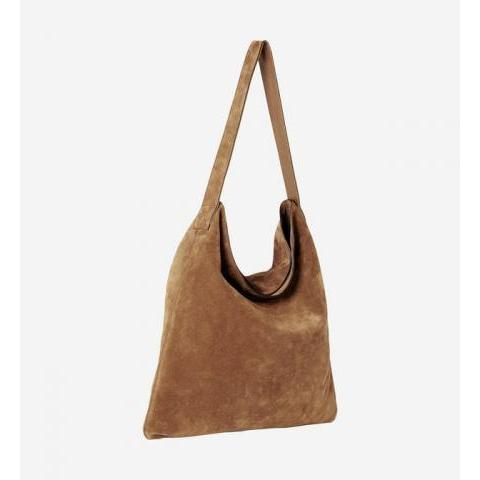 Sac hobo Lady en cuir velours Gerard Darel Marron | Galeries Lafayette