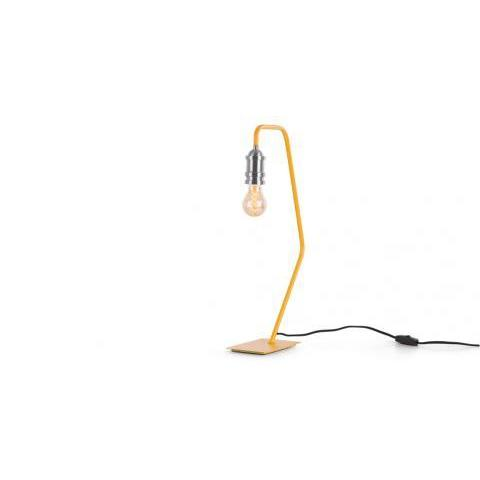 Starkey, une lampe de table, moutarde et nickel | made.com