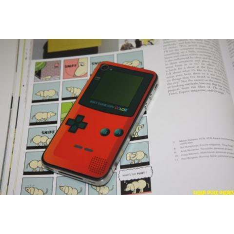 Game Guy Color Red iPhone 4 Decal Skin by killerduckdecals on Etsy