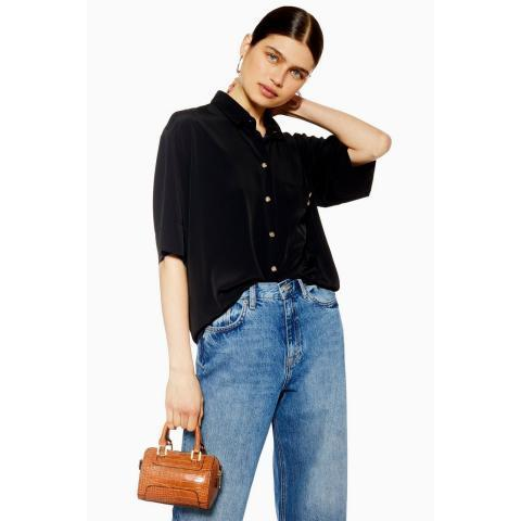 Short Sleeve Bowler Shirt - Topshop USA