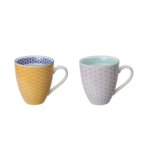 MONOQI | 2 Star Wave Mugs - Ylw/Prpl