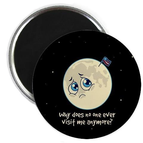 Sad Moon Magnet - Accessories - PRODUCTS