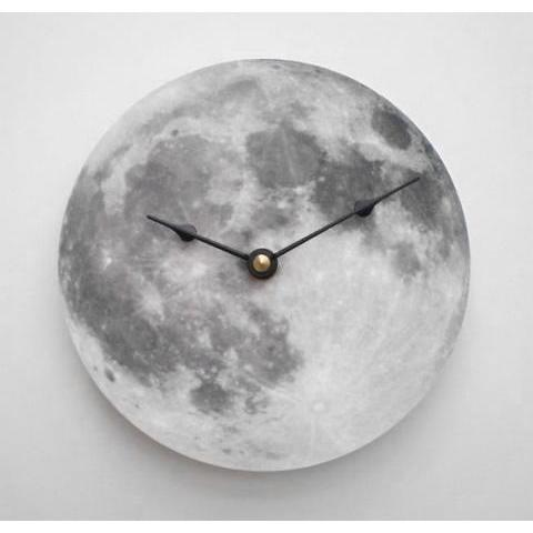 Silver Moon Clock by CyberMoon on Etsy