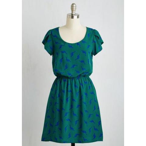Dino My Gosh Dress in Pine | Mod Retro Vintage Dresses | ModCloth.com