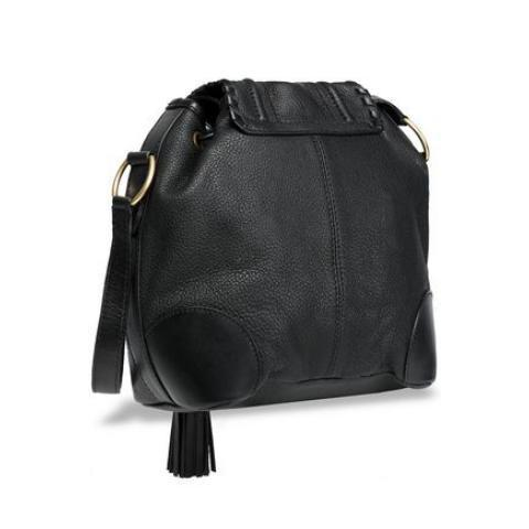 Polly tasseled textured-leather bucket bag | SEE BY CHLOÉ | Sale up to 70% off | THE OUTNET
