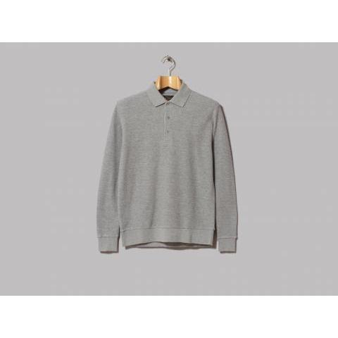 Beams Plus Long Sleeve Cotton Polo (Heather Grey) – Oi Polloi