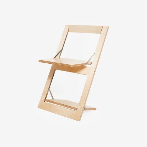 Fläpps Folding Chair - Birch clear by Ambivalenz - Fy