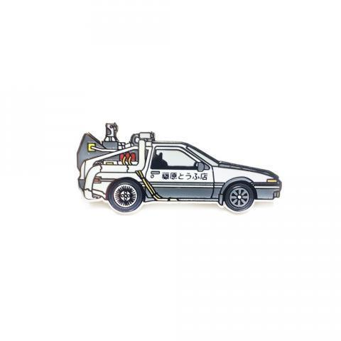 Initial D-lorean Pin / eugene to