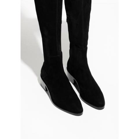Suede Over The Knee Boots - Black - & Other Stories