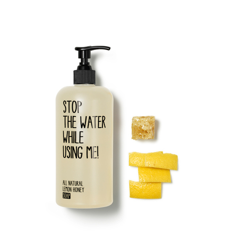 ALL NATURAL LEMON HONEY SOAP | ONLINE SHOP | STOP THE WATER WHILE USING ME!