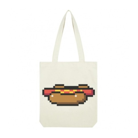 Tote Bag Pixel Art Hotdog Bricktown