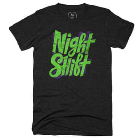 """Night Shift"" graphic designer t-shirt by Chris Piascik. 