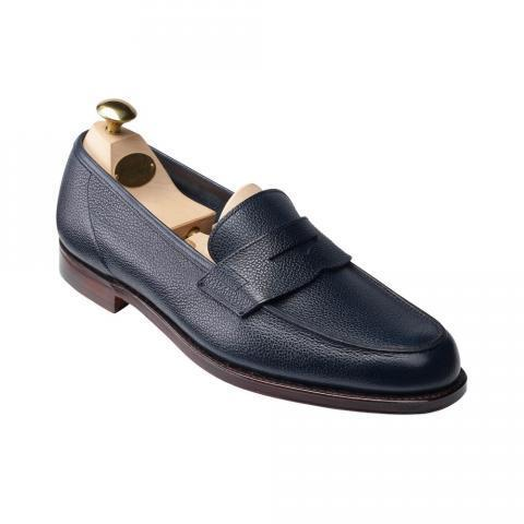 Richmond 2 Navy Pebble Grain | Crockett & Jones