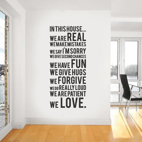 Vinyl Wall Sticker Decal In this house we do par urbanwalls sur Etsy