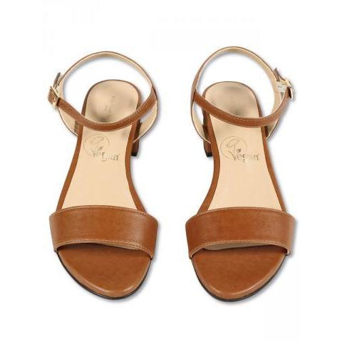 Vegan City Sandals In Tan For Womens | Will's Vegan Store