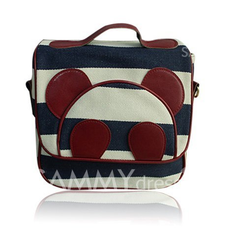 Sweet Women's Crossbody Bag With Striped and Panda Print Design (BLUE) | Sammydress.com