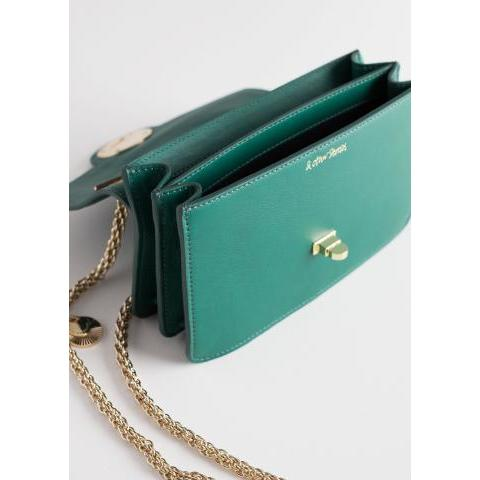Embossed Lock Crossbody Bag - Green - Shoulderbags - & Other Stories FR