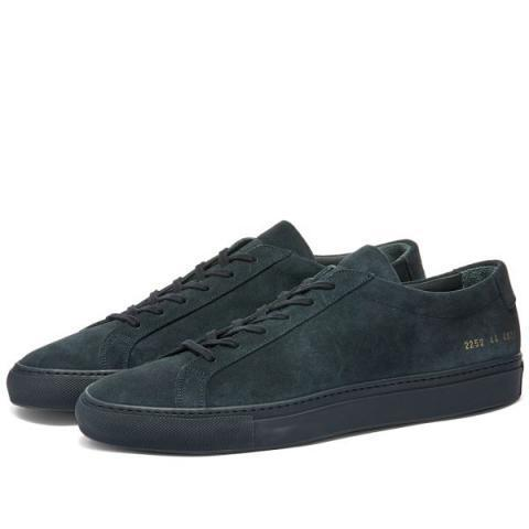 Common Projects Original Achilles Low Suede Navy | END.