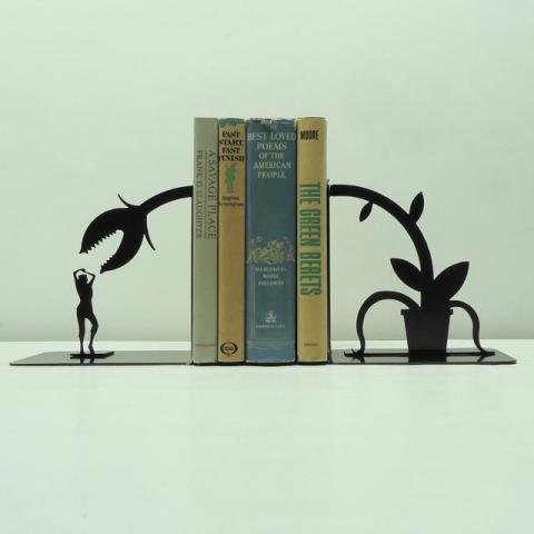 Fancy - Feed Me Seymour Metal Art Bookends