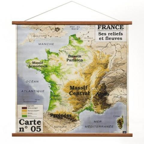 Toile carte de France Discipline Am.Pm | La Redoute