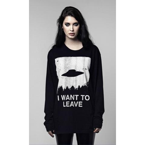 I Want To Leave Long Sleeve - Disturbia Clothing