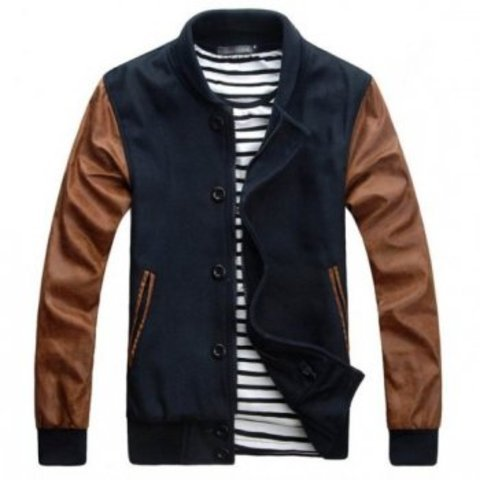 Navy Coffe Mens Varsity Letterman Jackets [Navy Coffe Varsity Jackets] - $78.00 : Varsity Letterman Jackets,Varsity Jackets For Girls Online Store!