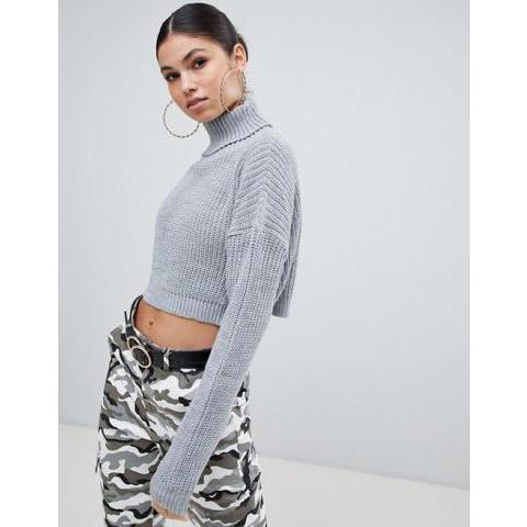 Missguided | Missguided roll neck cropped jumper