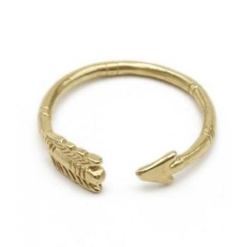 catbird :: WHAT'S NEW: jewelry :: Adjustable Arrow Ring, brass
