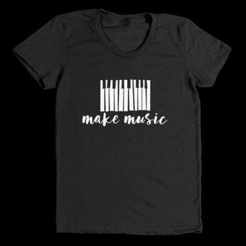 Make Music | Women's T-Shirt – little cutees