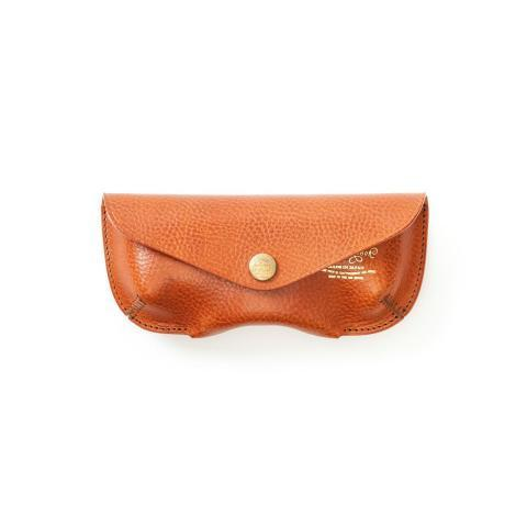 The Superior Labor Leather Glasses Case Light Brown